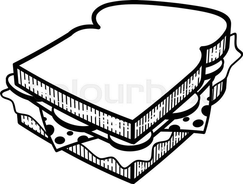 sandwich cartoon vector illlustration stock vector colourbox sandwich cartoon vector illlustration