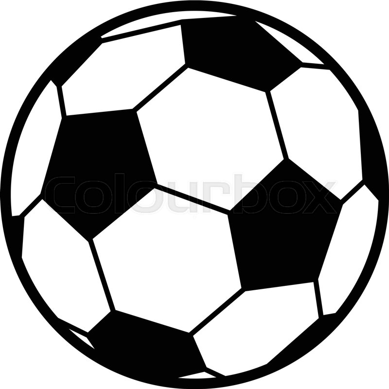 soccer ball vector icon stock vector colourbox rh colourbox com soccer ball vector png soccer ball vector free download