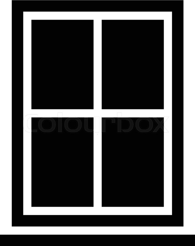 Window Frame Glass Pane | Stock Vector | Colourbox