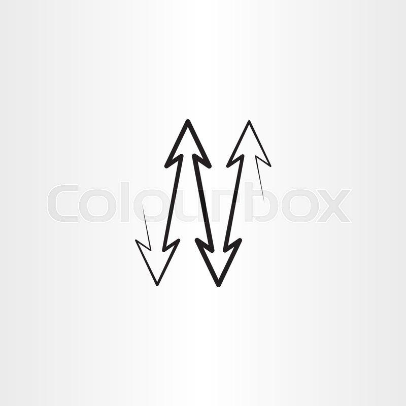 Black arrows up down vector     | Stock vector | Colourbox