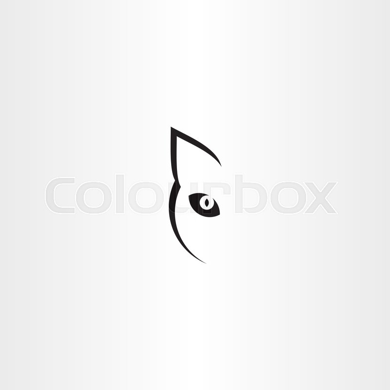 Black Cat Vector Logo Icon Symbol Stock Vector Colourbox