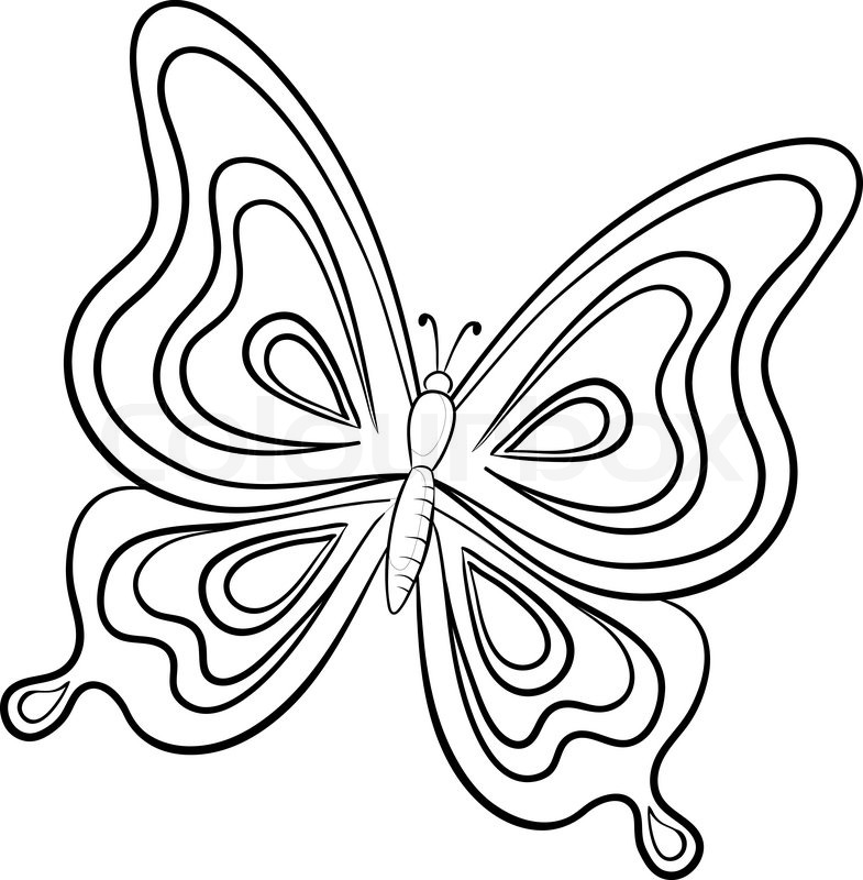 Vector Butterfly Hand-draw ... | Stock Vector | Colourbox
