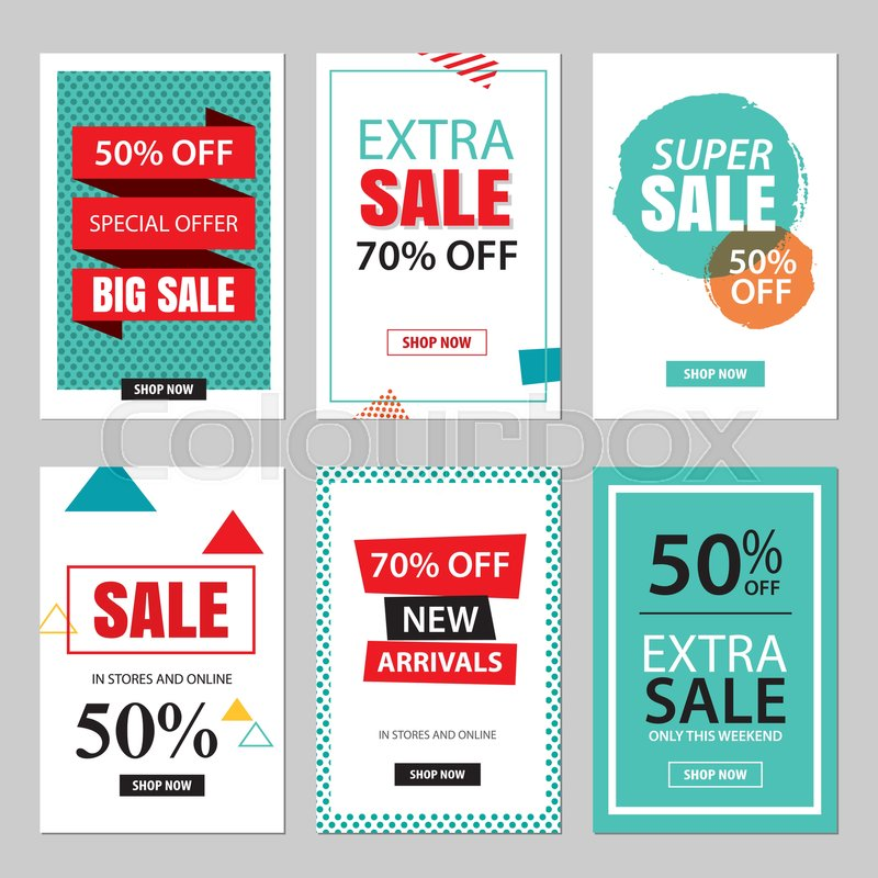 Set of sale website banner templatescial media banners for online set of sale website banner templatescial media banners for online shopping vector illustrations for posters email and newsletter designs ads maxwellsz