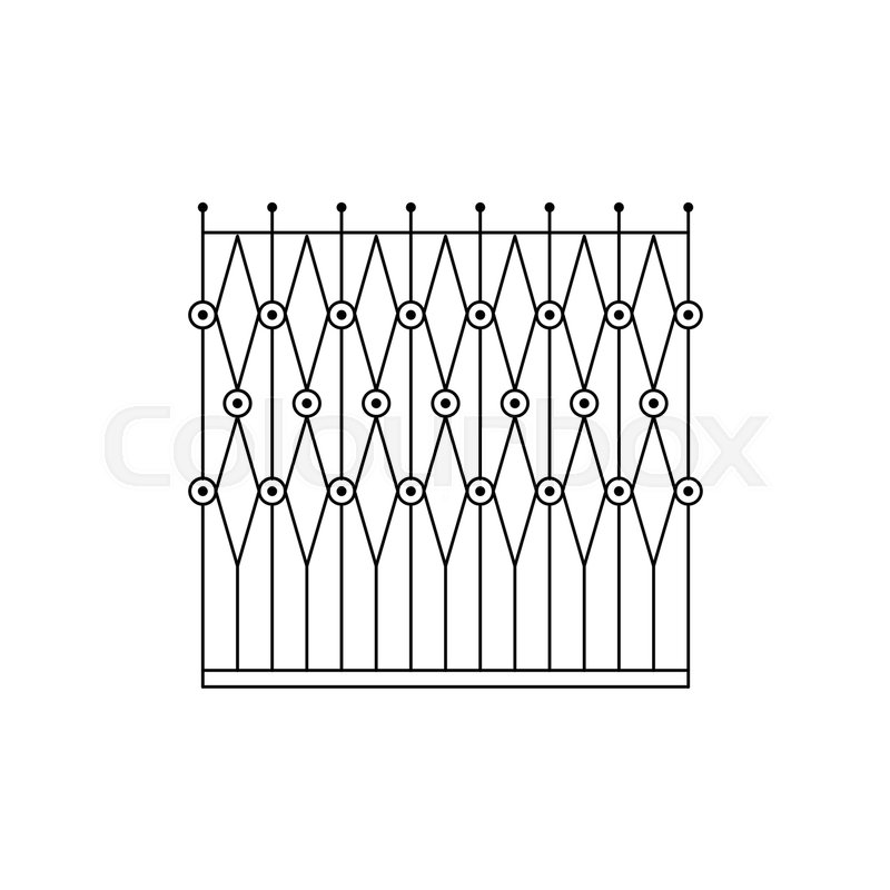 Geometric Grid Fencing Design Forged Iron Lattice Park Fence Black ...