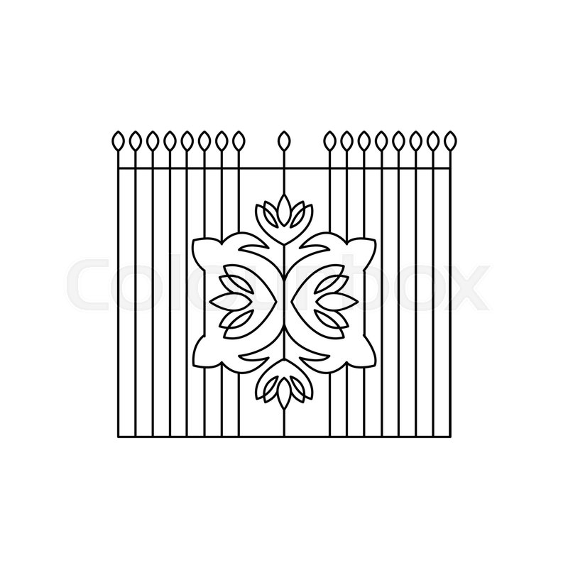 Metal Grid With Emblem Fencing Design Forged Iron Lattice Park Fence ...