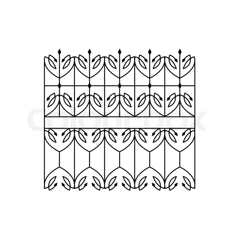 Classic Curled Lattice Fencing Design Forged Iron Lattice Park Fence ...