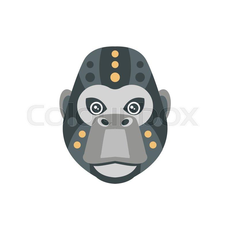 b397fa026 Gorilla African Animals Stylized ... | Stock vector | Colourbox