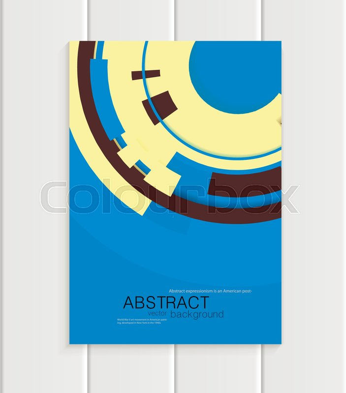 Design Business Templates With Yellow Rounds Black Rectangular Shapes On Blue Background For Printed Materials Elements Web Sites Cards Covers