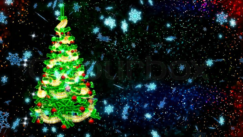 HD Loopable Abstract Background With Nice Christmas Tree