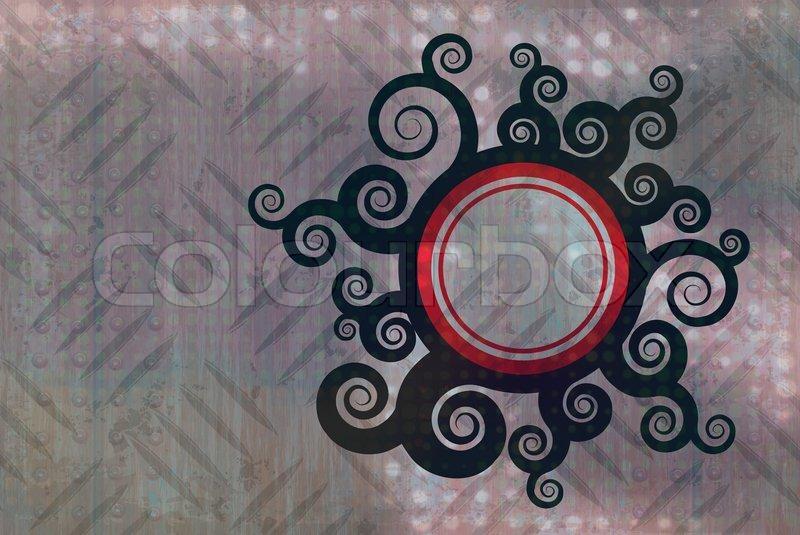 ein swirly foliage ber eine diamant platte textur mit viel copyspace stockfoto colourbox. Black Bedroom Furniture Sets. Home Design Ideas