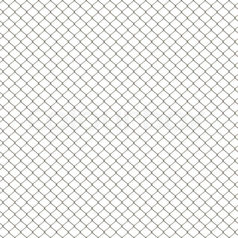 Eine 3d Kette Link Zaun Textur Auf Wei 223 Em Isoliert