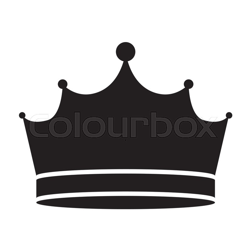 king crown royal jewelry accessory icon silhouette vector rh colourbox com king crown vector art king crown vector art
