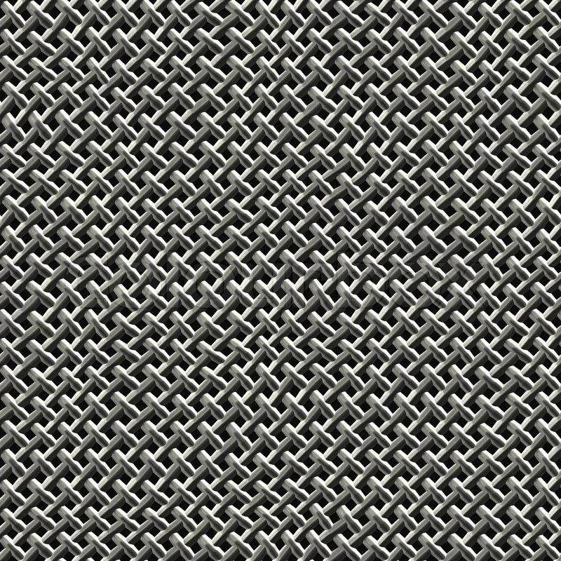 Steel Wire Mesh Texture That Tiles Stock Photo