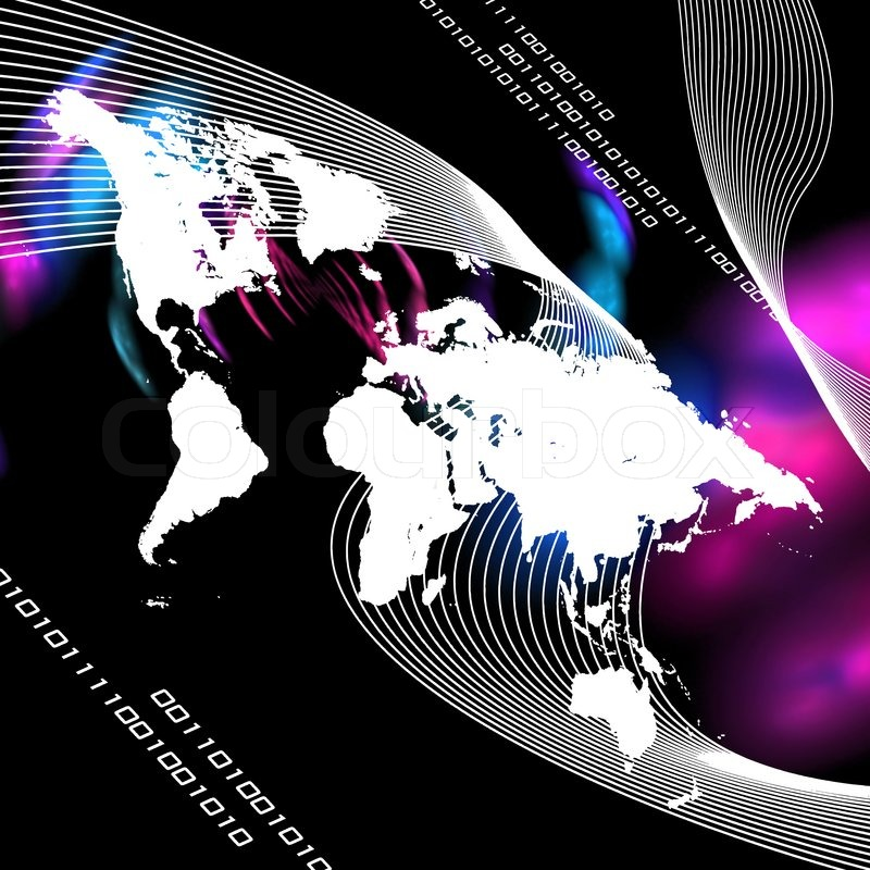 A world map montage with binary code this image works great for a world map montage with binary code this image works great for business internet communications and more stock photo gumiabroncs Choice Image