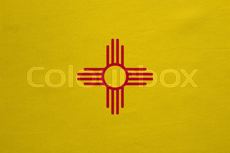 Flag Of The Us State Of New Mexico American Patriotic Element Usa