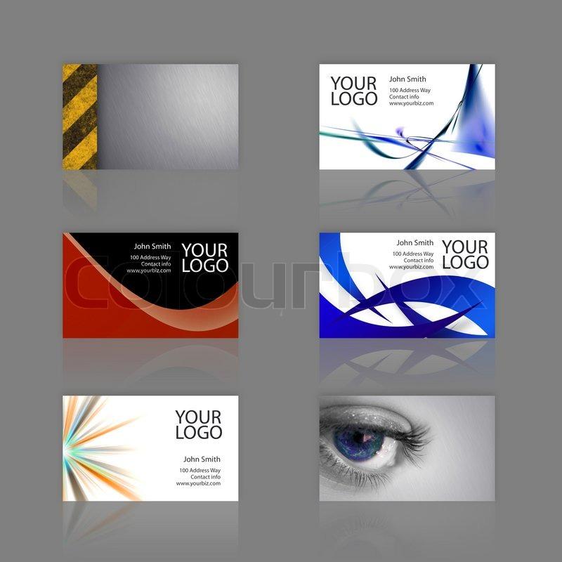 an assortment of 6 modern business card templates print ready