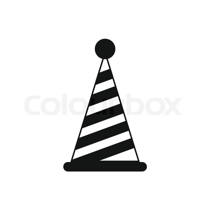 Party Hat Icon In Simple Style Isolated On White Background Holiday