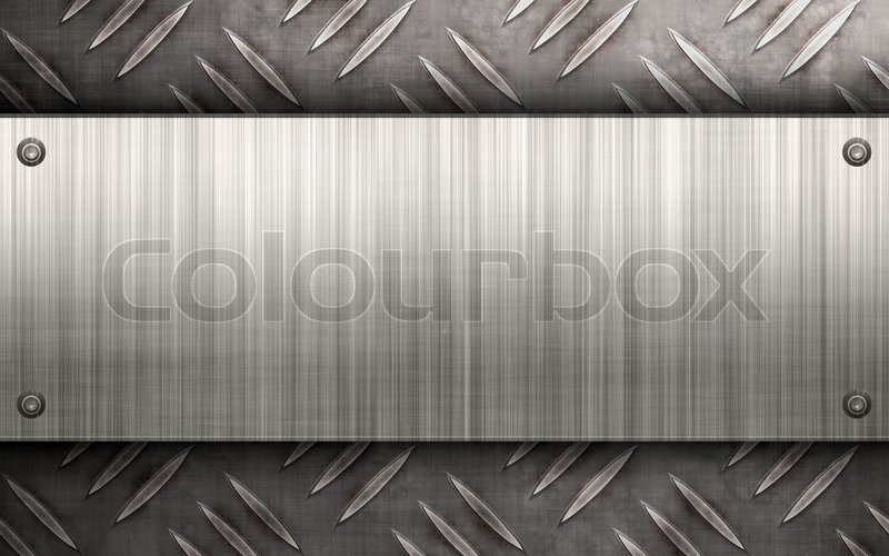 Worn Diamond Plate Metal Texture With A Stock Photo