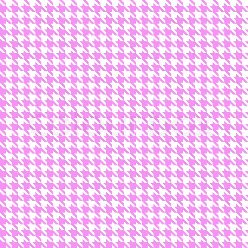 Pink And White Seamless Houndstooth Pattern Or Texture