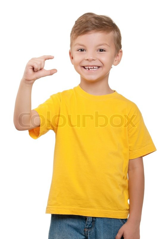 Images Of Boys Painted Bedrooms: Portrait Of Happy Little Boy Over White Background