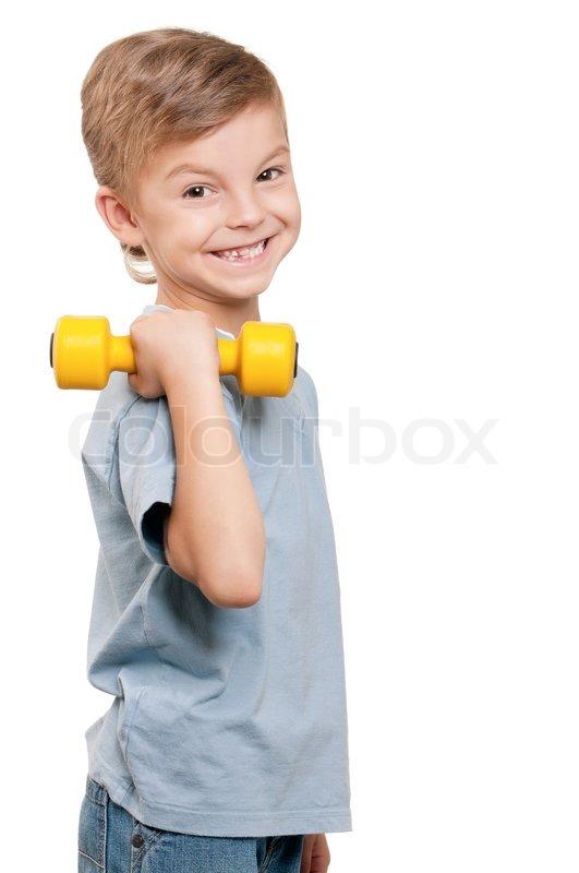 Muscles Teen boy