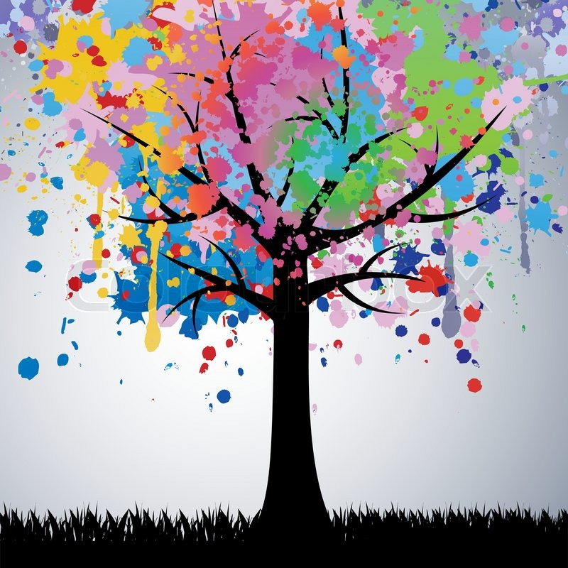 Abstract colorful tree vector stock vector colourbox - Family tree desktop wallpaper ...