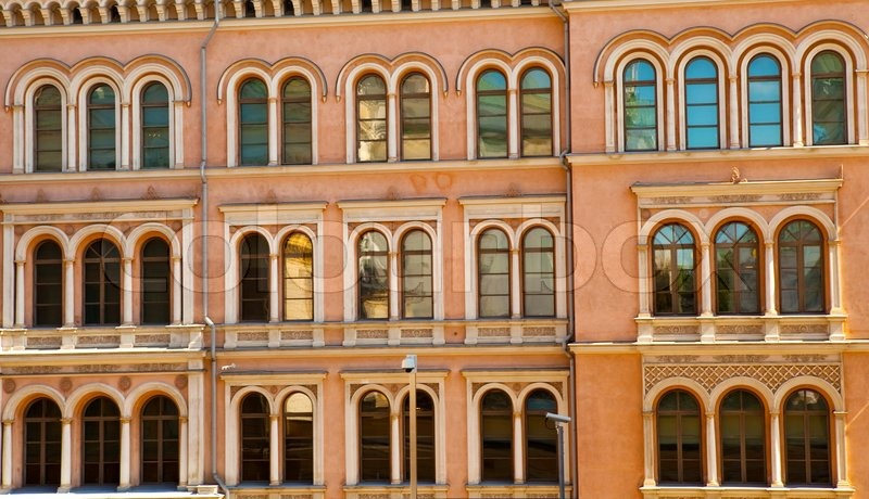 city building windows. Beautiful Rows Of Windows On An Old Building In Helsinki City  Finland Stock Photo Colourbox