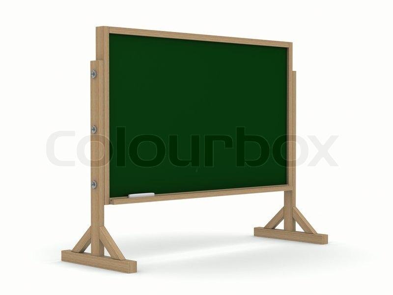 tafel mit kreide auf wei em hintergrund stockfoto. Black Bedroom Furniture Sets. Home Design Ideas