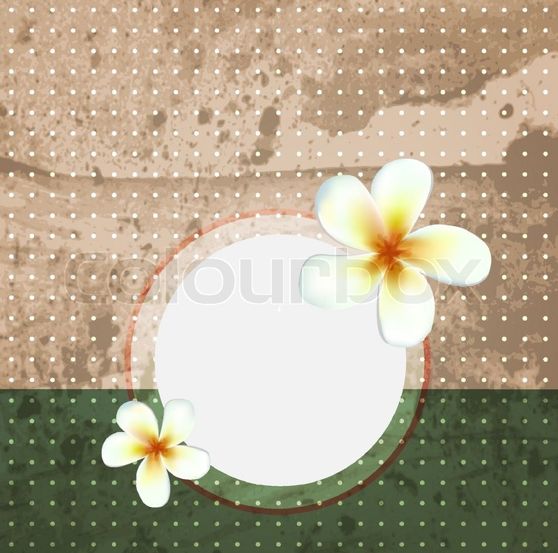 Stock vector of 'Vintage old style scrapbook paper. Vector flowers background'