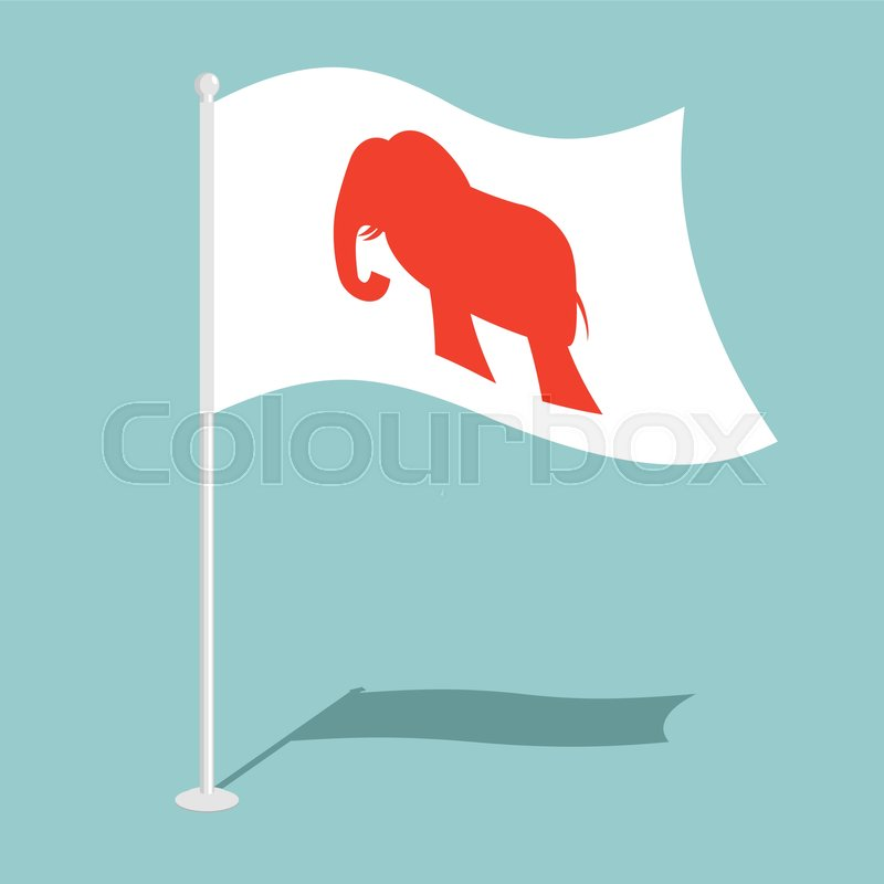 Republican Elephant Flag National Flag Of Presidential Election In
