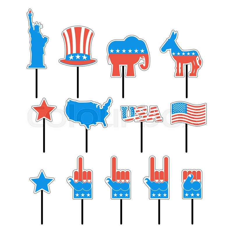 Foam Sign President Election Of America Set Photo Props For Photo