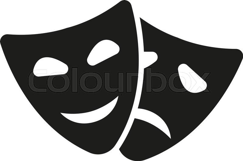 the theater and mask icon drama comedy tragedy symbol flat rh colourbox com drama vector free download drama victoria cast