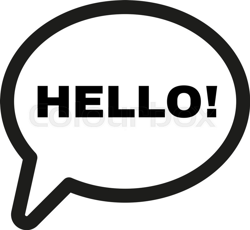 the hello icon greet and hi symbol stock vector