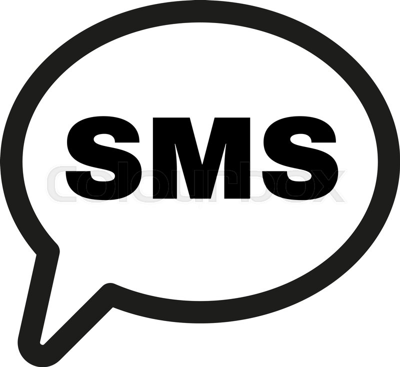 The Sms Icon Text Message Symbol Flat Vector Illustration Stock