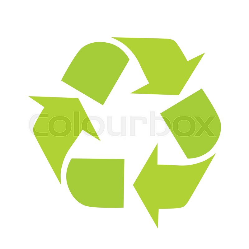 Sign Of Recycling Recycling Icon In Flat Green Recycle Symbol