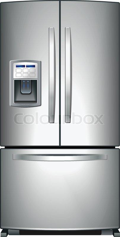 Domestic metallic Kühlschrank mit Gefrierfach und unten icemaker ...