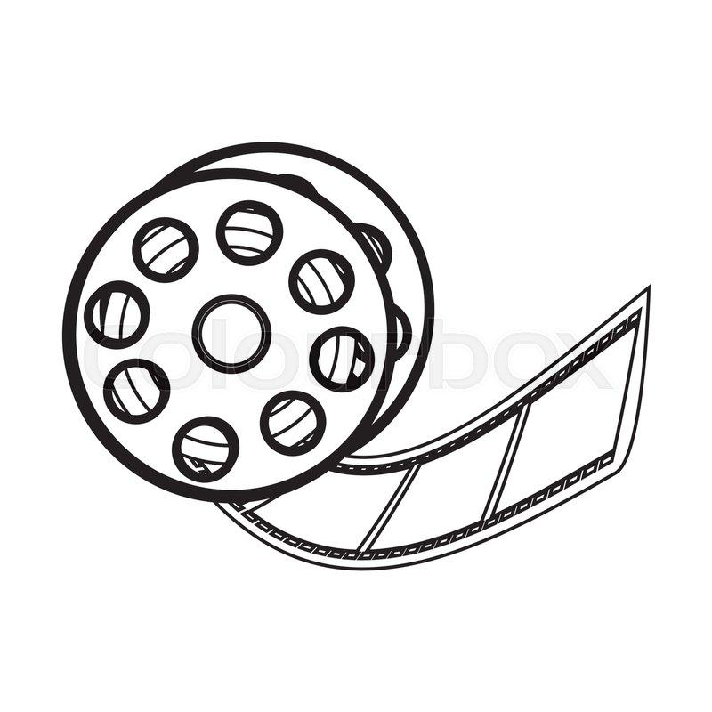 film tape reel icon image vector illustration design stock vector