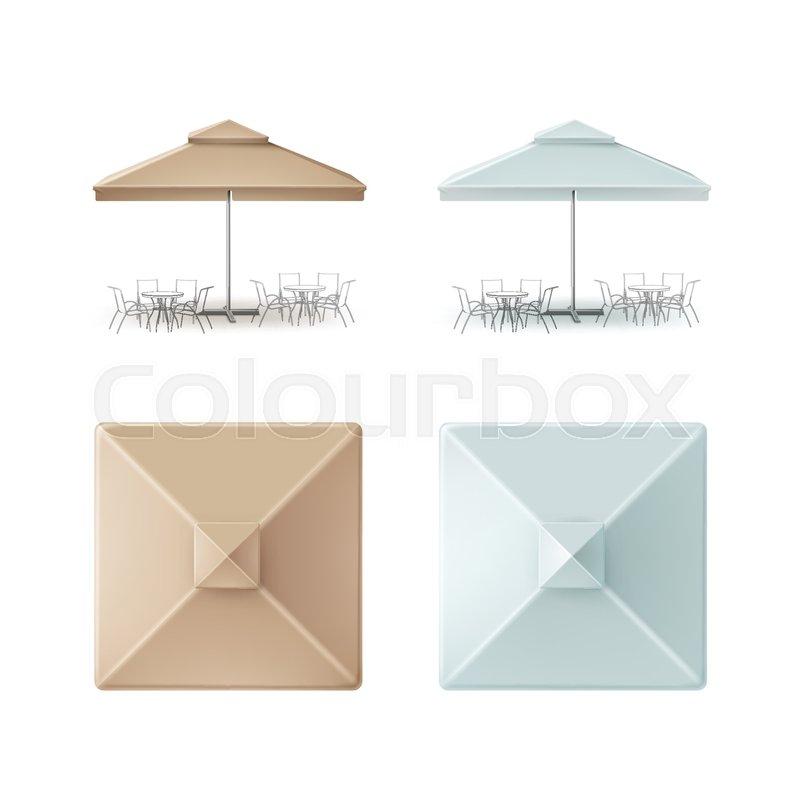 Light Blue Patio Umbrella Designs
