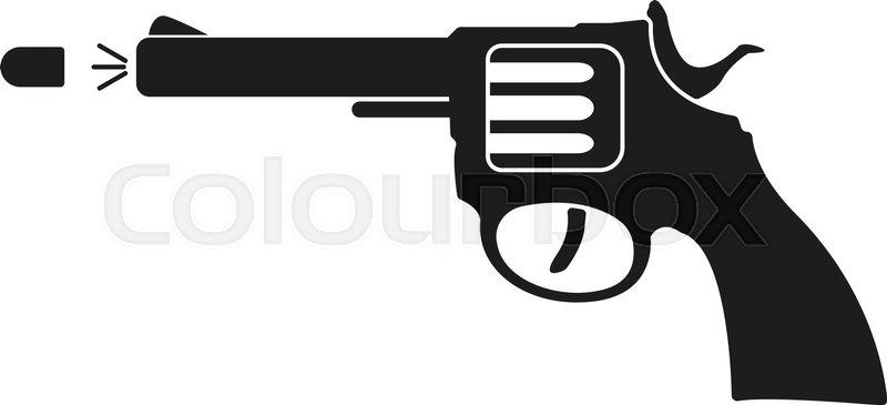 The Gun Icon Pistol And Handgun Weapon Revolver Shot Symbol