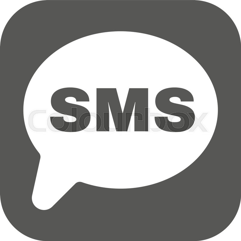 The Sms Icon Text Message Symbol Flat Vector Illustration Button