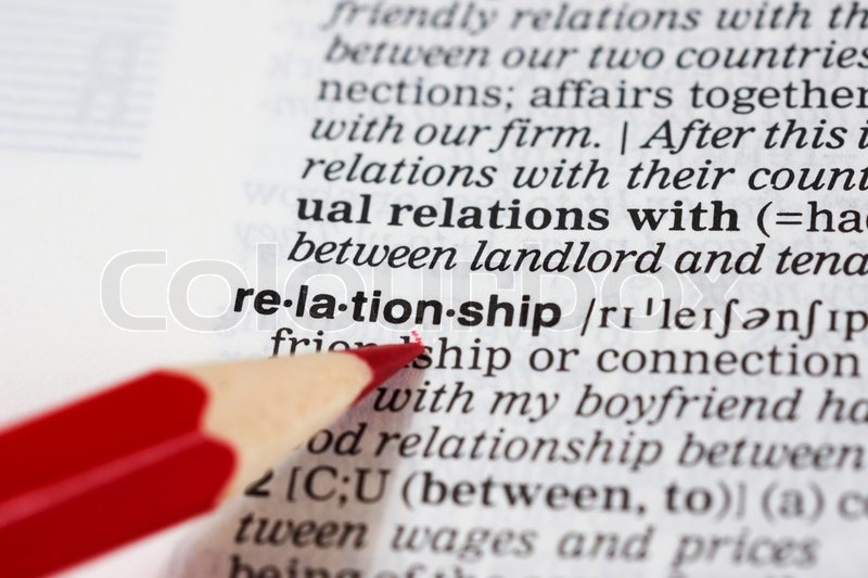 a relationship definition in a dictionary stock photo colourbox. Black Bedroom Furniture Sets. Home Design Ideas