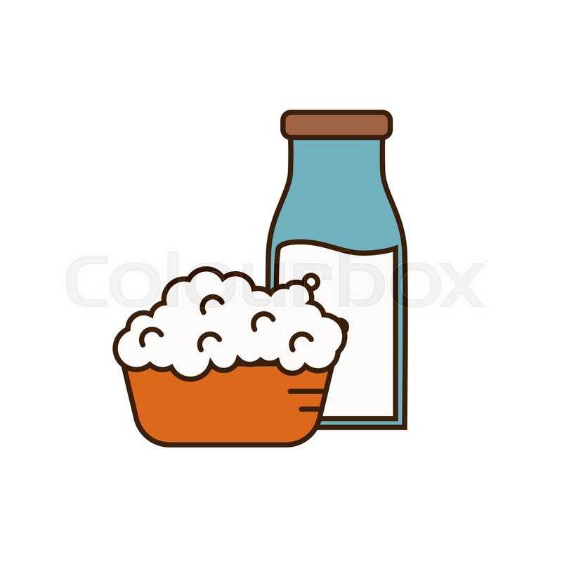 Dairy icon in line style design with     | Stock vector