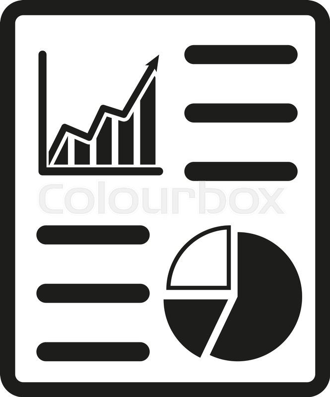 The business report icon. Audit and analysis, document ...
