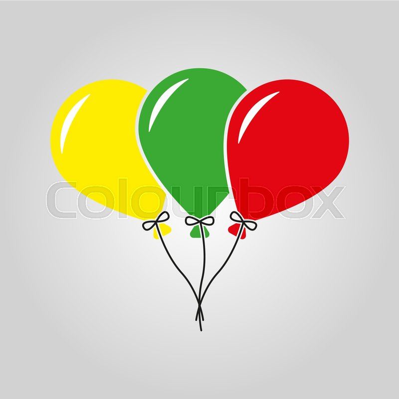 The Balloons Icon Fun And Celebration Birthday Symbol Flat Vector