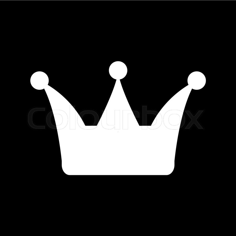 The Crown Icon Crown Symbol Flat Vector Illustration Stock