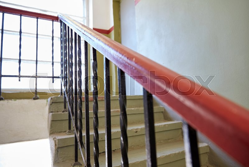 Vintage Stair Railings On Staircase At Living House | Stock Photo |  Colourbox