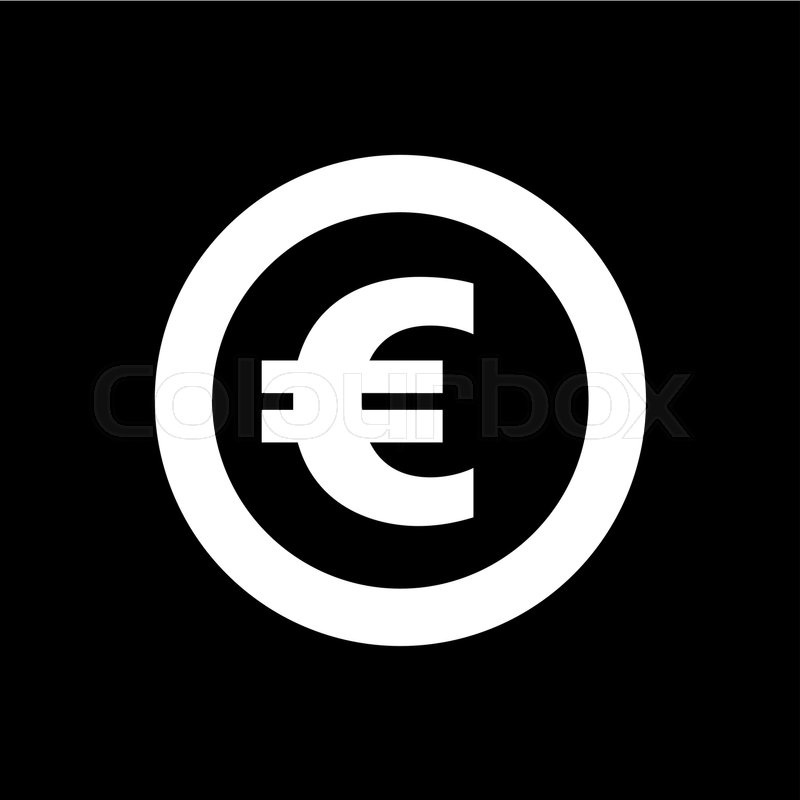 The Euro Icon Cash And Money Wealth Payment Symbol Flat Vector