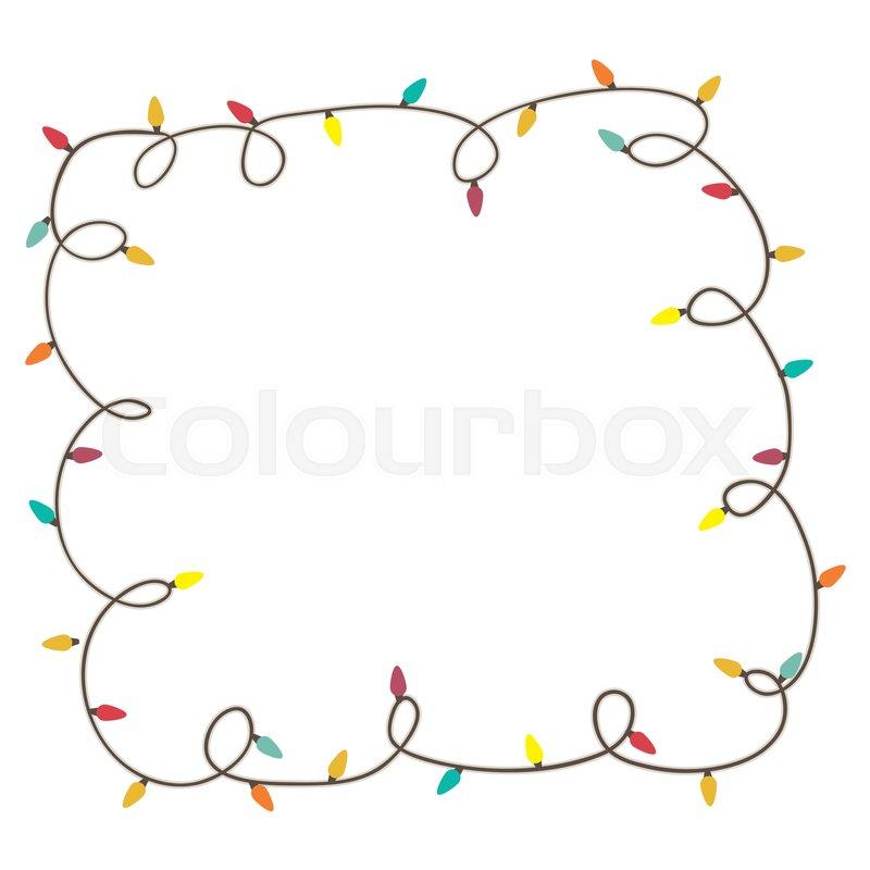 christmas lights frame icon image vector illustration stock vector colourbox - Christmas Lights Frame