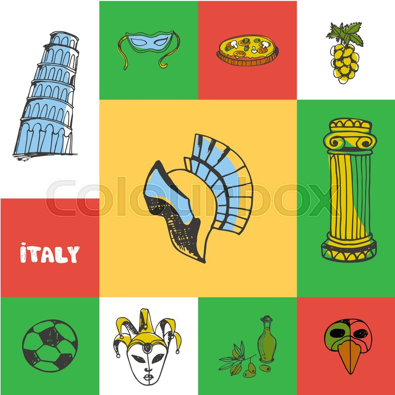 Italy Checkered Concept In National Colors Gladiator Helmet Pizza
