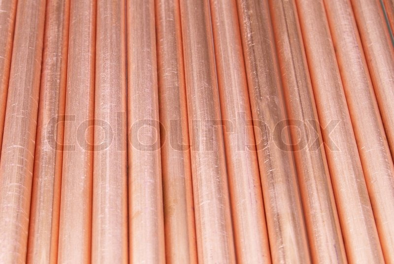 Copper pipes can be used for abstract background stock for Used copper pipe